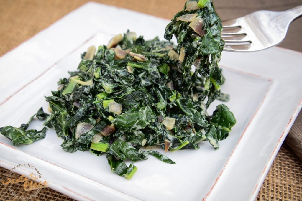Sandra's delicious version of Sukuma Wiki - so tasty!