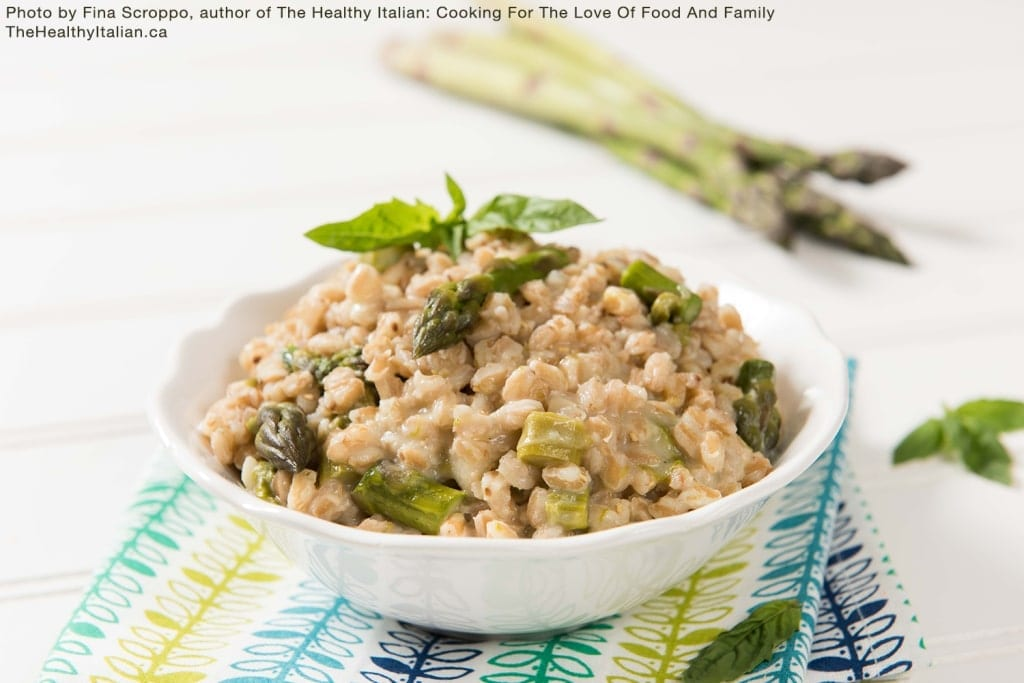 The Healthy Italian Asparagus Farro Risotto