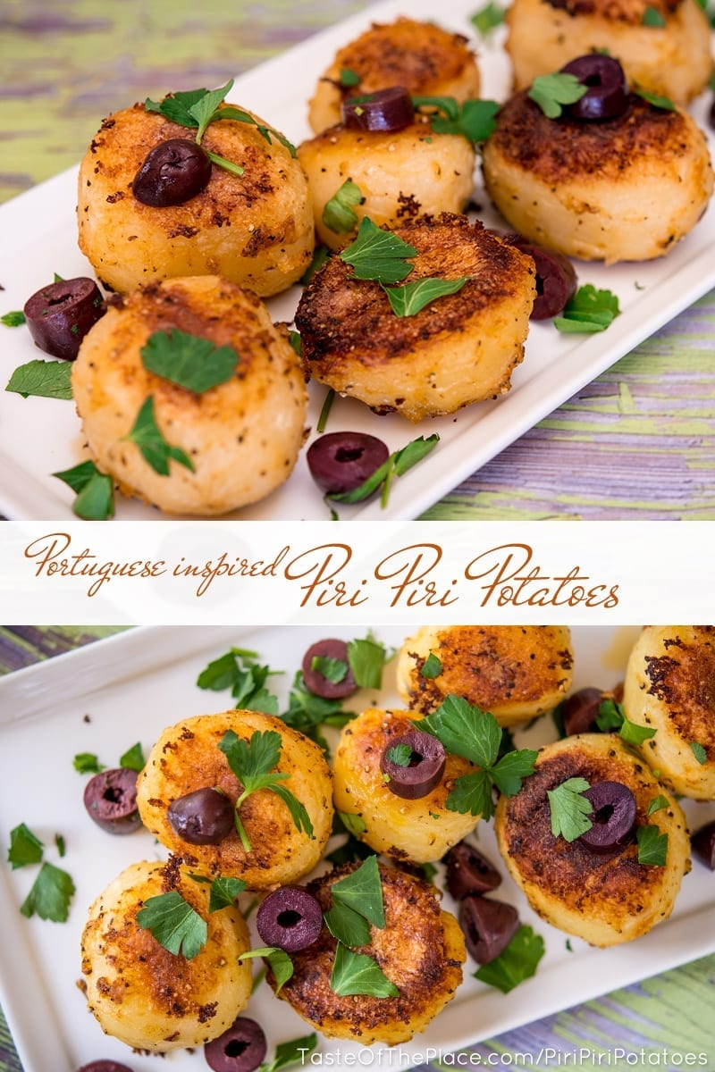 Piri Piri Potateos at TasteOfThePlace.com Pinterest