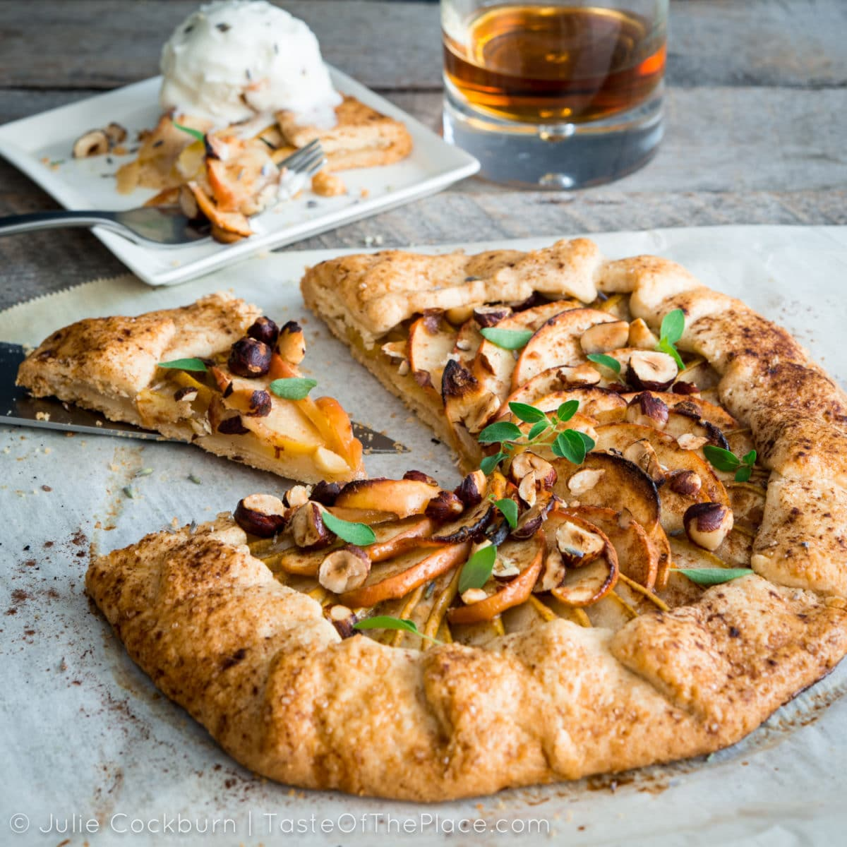 Pear and apple galette from TasteOfThePlace.com