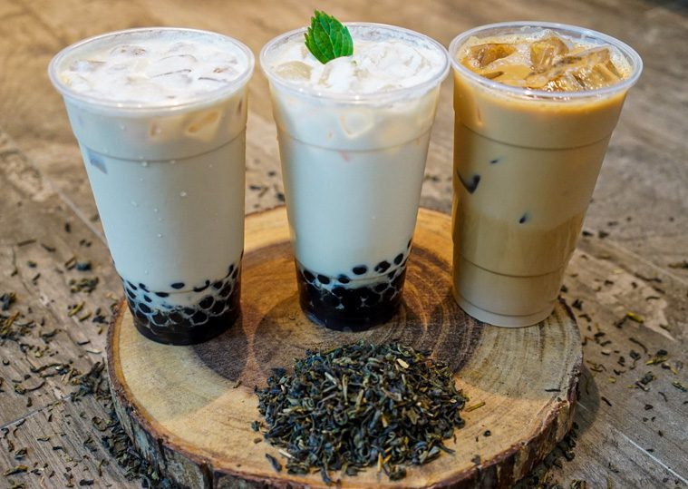 3 boba teas on wood at seattleicecreamcatering.com