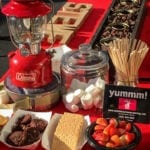 Red smores bar at seattleicecreamcatering.com